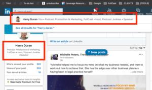 Harry Duran LinkedIn Profile